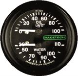 Combined Oil Pressure Water Temperature Gauges