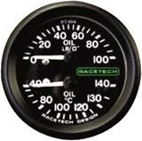Combined oil pressure oil temperature gauges