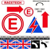 Safety sticker sheets with Raceparts