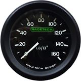 Mechanical oil pressure gauges from Raceparts.