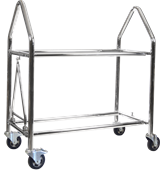 Pit equipment trolleys