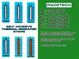 Racetech self adhesvive temperature strips