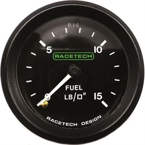 Mechanical fuel pressure gauges from Raceparts