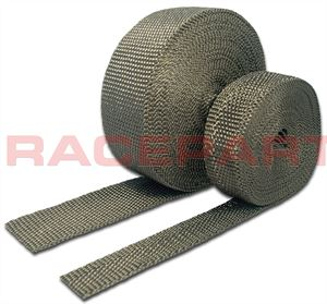 Carbon fibre exhaust insulating wrap from Raceparts